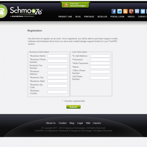 Schmooze Portal Registration